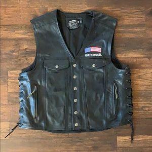 Harley Davidson Leather Vest XXL